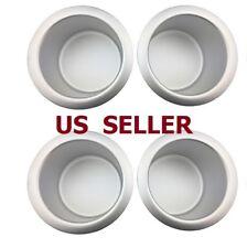 US SHIP 4 PCS Jumbo Aluminum Poker Table Cup Holders Silver