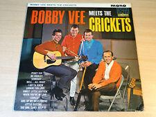 EX- !! Bobby Vee & The Crickets/Meets/1962 Liberty Mono LP