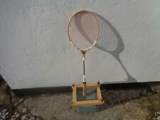 True vintage wooden tennis racket with wooden case