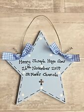Personalised Plaque Sign ~ NEW BABY BOY ~ Keepsake Present Gift Christening