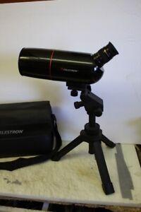 Celestron 52234 C65 Mini Mak Zoom Spotting Scope Tripod Nylon Case 65mm 30-90x