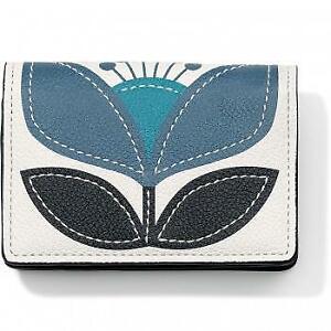 Brighton BluePrint Card Case blue/white/black  NWTag $55