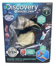 Discovery MINDBLOWN Mini Fossil Dig Set, Real Shark Teeth Excavation Kit