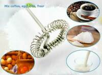 Frother Electric Milk Mixer Drink Foamer Coffee Egg Whisk C2Y0 Latte New Be B3Y0