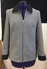 Damen Blazer Jacke Damenjacke Damenblazer schwarz weiß Karo Gr. 36