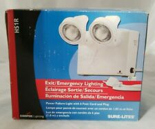 Sure-Lite Lighting Exit/Emergency Safety Light Fixture Hsr1