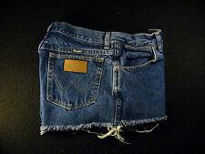 Wrangler CUTOFF JEAN SHORTS Cut Off High Waisted W 30 Denim Hot Pants
