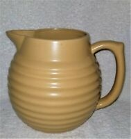 Vintage Over & Back Pottery Yellow Ware Beehive Pitcher - 72 Oz. - VGC