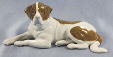 Bernhardiner hund porzellan figur Heubach hundefigur porzellanfigur