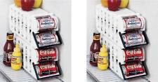2 Store N Tote Stackable Can Dispenser Durable Plastic Holder Rack