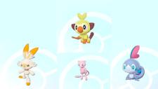 Pokemon Sword/Shield Shiny Starters Grookey, Scorbunny & Sobble + Free 6IV Mew