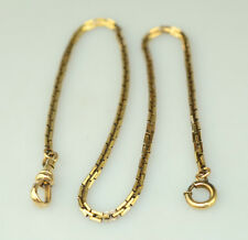"""Chain With Interlocking Square Links Antique Victorian Gold Filled 13.75"""" Watch"""