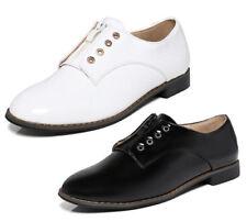 Zapatos planos de mujer sin marca de charol