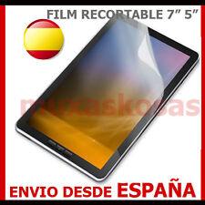 """1 PROTECTOR DE PANTALLA DE 7"""" 5""""con líneas para corte para tablet,. ebook ..."""