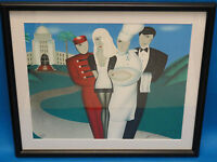 """FRAMED ROBIN MORRIS """"AT YOUR SERVICE"""" POP ART SIGNED LITHOGRAPH ARTIST PROOF"""
