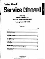 Radio Shack HTX-212 Service and Owners Manual * CDROM * PDF