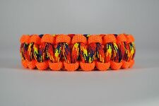 550 Paracord Survival Bracelet Cobra Orange/Phoenix Sunrise Camping Tactical