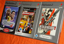 Collection playstation 2 ps2 jeux Metal Gear solid 2 Midnight club pro evolution