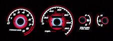 Type-R RED GLOW 92 93 94 95 HONDA CIVIC EG EX Si GAUGE Face OVERLAY NEW