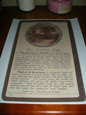 """""""The Golden Age"""" #12 Lardent Card Divine Plan of the Ages Watchtower Russell"""