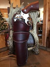 Western Leather Gun Holster Single Action Revolver Left Handed