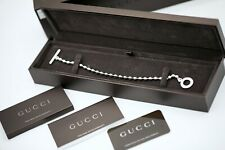 """Authentic GUCCI Sterling Silver 925 Ball Chain 21 Size Women's Bracelet 8.5"""""""