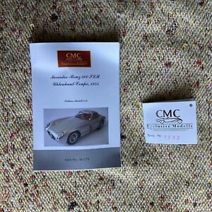 CMC 1:18 Mercedes-Benz 300 SLR Coupe 1955 M-076 Tag and Leaflet Catalogue