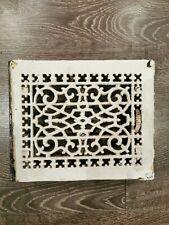 Antique Cast Iron Ornate Ceiling Grate Floor Vent Heat Register Cover 1920s salv