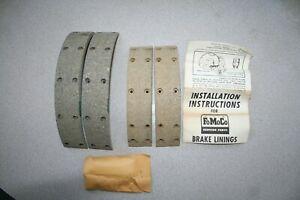 C3DZ-2007-B NOS FORD FALCON MUSTANG 9X1.5 REAR BRAKE LINING KIT