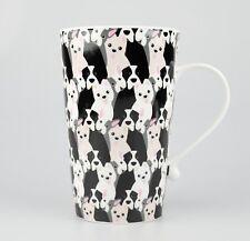 JAMESON&TAILOR Riesen-Becher, Motiv kleine Hunde, 0,8 l, Porzellan, leicht!