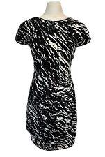 Lipsy Size 16 Black And White Zebra Print Dress Size