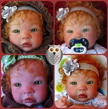 Reborn baby  Girl,  Shyann by Aleina Peterson,  Premium Angora red  mohair