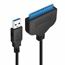 USB 3.0 zu SATA 22 Pin externes Adapter Kabel für 2.5 Zoll Festplatten HDD SSD