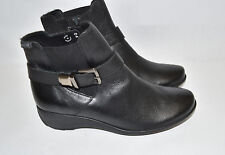 Mephisto 'Stefania' Wedge Bootie Black Leather Buckle Size 5.5 US $400