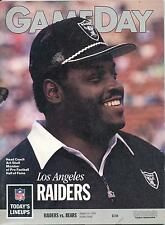 Chicago Bears vs. Los Angeles Raiders 8/24/90 GameDay Game Program...Art Shell