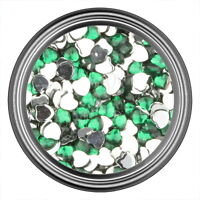 Green Heart Rhinestone Gems Flat Back Face Art Nail Art Jewels Decoration