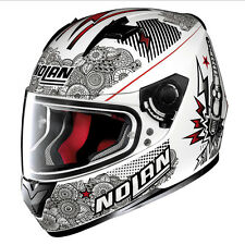 CASCO INTEGRALE NOLAN N64 N-64 LET'S GO - 93 METAL WHITE TAGLIA M