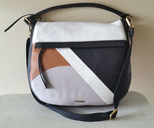 FOSSIL NWT Molly Large Hobo Leather Crossbody Bag in Black Multi NWT $268