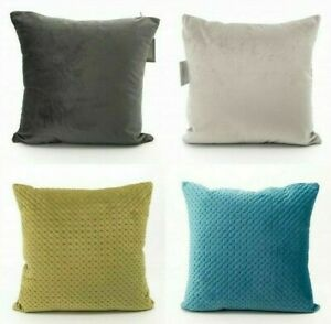Velvet Quilted Design Cushion Cover Only or With Inner Soft Sofa Decorative Bed
