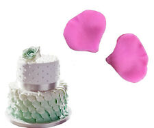 2pcs Rose Petal Leaf Shaped Fondant Silicone Mold Cake Decor Mould Baking Tools