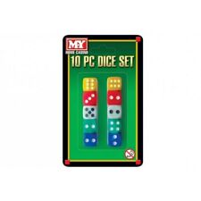 New 10 Piece Dice Set Coloured Six Sided Home Casino Games Fun Playing Dice