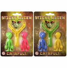 Sticky Alien Catapult - Pinata Toy Loot/Party Bag Fillers Kids Stocking Sling