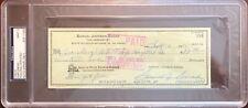 1975 Sam Snead Signed Check PSA MINT 9 Slabbed & Estate Certified Golf HOF