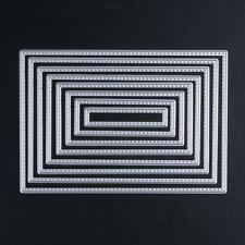 Rectangle Stitch Nesting Die Set Metal Cutting Die Cutter DIY Die Cut Frame Die