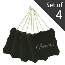 """6"""" Hanging Black Vintage Style Price Tag frame with Jute String. Set of 4. New."""