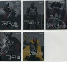 Marvel Universe 2014 Complete Avengers Origins Chase Card Set AO1-5