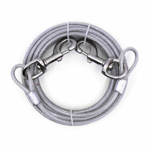 Heavy Duty Extra-Large Jumbo Dog Tie Out Cable Pet Steel Leashes Run