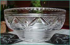 RARE Superb Vintage Art Deco STUART Crystal Centrepiece Bowl Fan Fern Cut