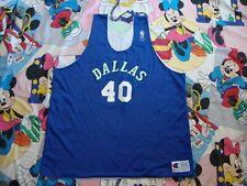 Vintage Dallas Mavericks Champion Authentic NBA Practice Reversible Jersey 3XL