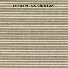 Sunbrella Rib Taupe/Antique Beige 7761-0000 Indoor/Outdoor Fabric by the yard